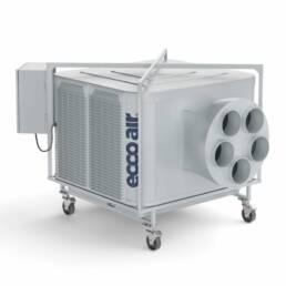 Máquina de insuflação e climatização, modelo ECCO 155 TURBO SIROCO, em fundo branco, vista de frente